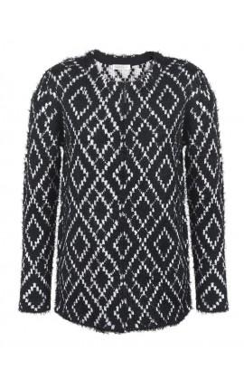 Pull noir et blanc, très épais et chaud