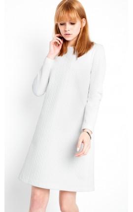 Robe blanche matelassée